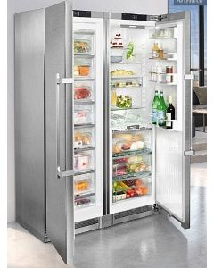 Liebherr SBSes8663 Steel Side By Side Fridge Freezer Food Centre