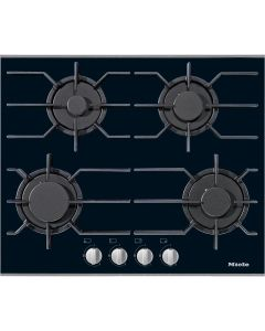 Miele KM 3010 4 burners Glass based Gas Hob - Black