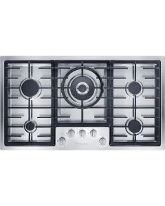 Miele KM 2357 5 Burners Gas Hob - Stainless Steel