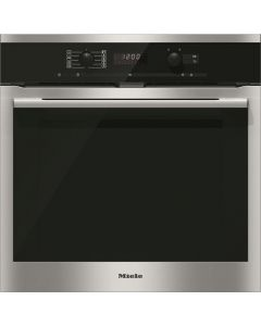 Miele H6160B Built-In Single Electric Oven - Clean Steel