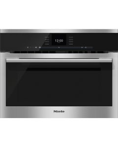 Miele H6500BM Single Electric Oven with Microwave - Clean Steel