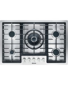 Miele KM2335 77cm Wide Flush Fit 5 Burner Gas Hob - Stainless Steel