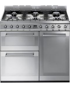Smeg SY93 Symphony Stainless Steel Three Cavity Dual Fuel Cooker