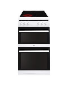 Amica AFC5100WH 50cm white Twin Cavity Double Ovens Electric Cooker