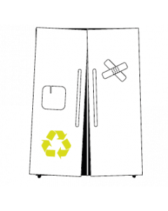 American Refrideration Side By Side Recycling