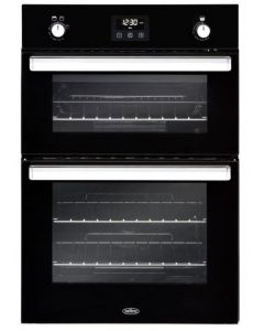 Belling BI902G Black NATURAL GAS Double Oven