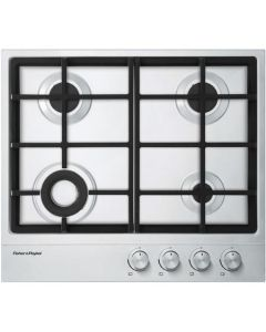 Fisher & Paykel CG604DNGX1 60cm Wide Gas on Steel Four Burner Hob