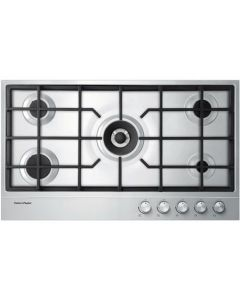 Fisher & Paykel CG905DNGX1 90cm Wide Gas on Steel 5 Burner Hob