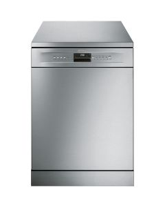 Smeg DF613PX 60cm Stainless Steel and Silver Sides Freestanding Dishwasher with 13 place settings and
