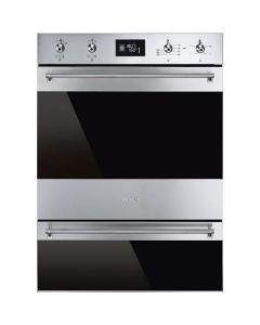Smeg DOSP6390X Classic Stainless Steel Pyrolytic Double Multifunction Oven