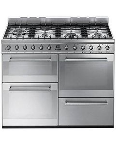 Smeg SYD4110 Symphony Stainless Steel Four Cavity Dual Fuel Cooker