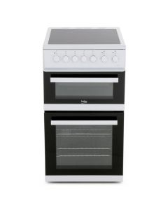 Beko EDVC503W White 50cm Cooker with Double Oven