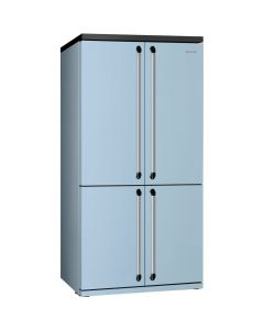 Smeg FQ960PB Victoria Pastel Blue Freestanding Four Door Fridge Freezer