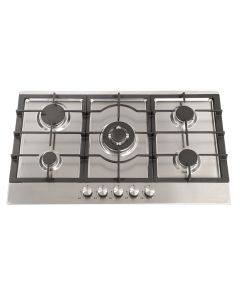 Montpellier GH91X 90cm Gas Hob Cast Iron Support Stainless Steel - 5 Burners