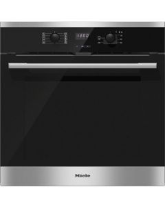 Miele H2561B Built-in Electric Single Oven -  Clean Steel
