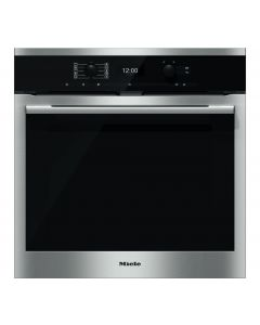 Miele H6360BP Built In Electric Single Oven - Clean Steel