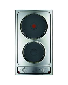 CDA HE3141SS 2 solid plate domino hob, Front control, 6 power levels