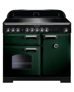 Rangemaster - 100cm Classic Deluxe Induction Range 113990 Green and Chrome