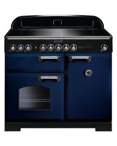 Rangemaster - 100cm Classic Deluxe Induction Range 114010 Blue and Chrome