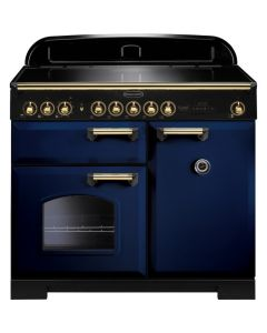 Rangemaster - 100cm Classic Deluxe Induction Range 114020 Blue and Brass