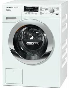 Miele WTF130WPM Front Loading and 7kg Free Standing Washer Dryer -  White