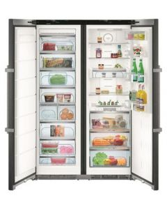 Liebherr SBSbs8673 BlackSteel Side By Side Fridge Freezer Food Centre