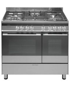 Fisher Paykel OR90L7DBGFX1 Dual Fuel Range Cooker with 5 Burners and Wok Ring Steel