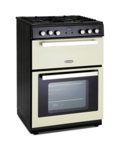 Montpellier 60cm Gas Mini Range Cooker in Cream - Cast Iron Double Oven