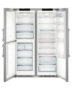 Liebherr SBSes8473 BioFresh NoFrost Side-by-side American Fridge Freezer With Plumbed IceMaker - Stainless Steel
