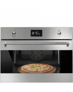 Smeg SFP4390XPZ Classic Stainless Steel Compact Multifunction Pyrolytic Pizza Oven