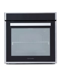 Montpellier 75ltr Single Pyrolytic Oven, 9 Functions, Full Touch Control, Telescopic Runners, Programmable Timer, Door Switch