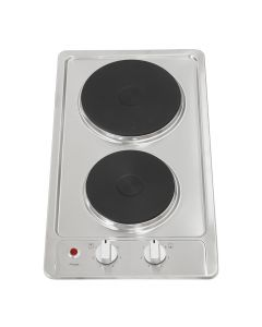 Montpellier 30cm Solid Plate Hob Stainless Steel