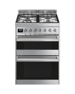 Smeg SY62MX9 60cm Symphony Stainless Steel Dual Cavity Dual Fuel Cooker
