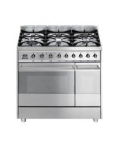 Smeg SY92PX8 Symphony Stainless Steel Dual Cavity Pyrolytic Dual Fuel Cooker