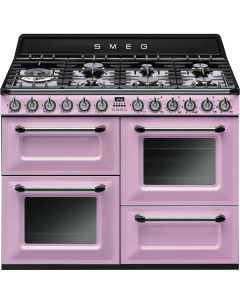 Smeg TR4110RO 110cm Victoria Pink Four Cavity Dual Fuel Traditional Cooker with Side Opening Ovens