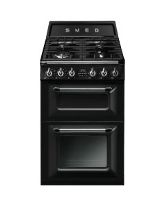 Smeg TR62BL Black Two Cavity Dual Fuel Traditional Victoria Style Cooker