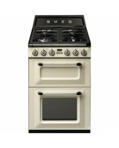 Smeg TR62P Cream Two Cavity Dual Fuel Traditional Victoria Style Cooker