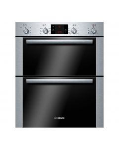 Bosch HBN43B250B Built-Under Brushed Steel Double Oven