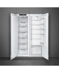 Smeg UKS3C090P1 60cm Integrated In Column Refrigerator with Ice Box A+