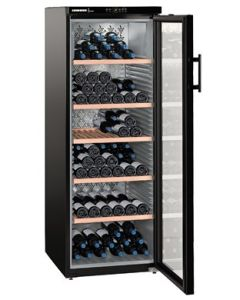 Liebherr WKb4212 Vinothek Black Glass Door Single Zone Wine Cooler
