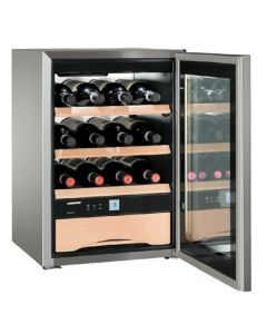 Liebherr WKes653 Grand Cru Steel Glass Door Single Zone Wine Cooler